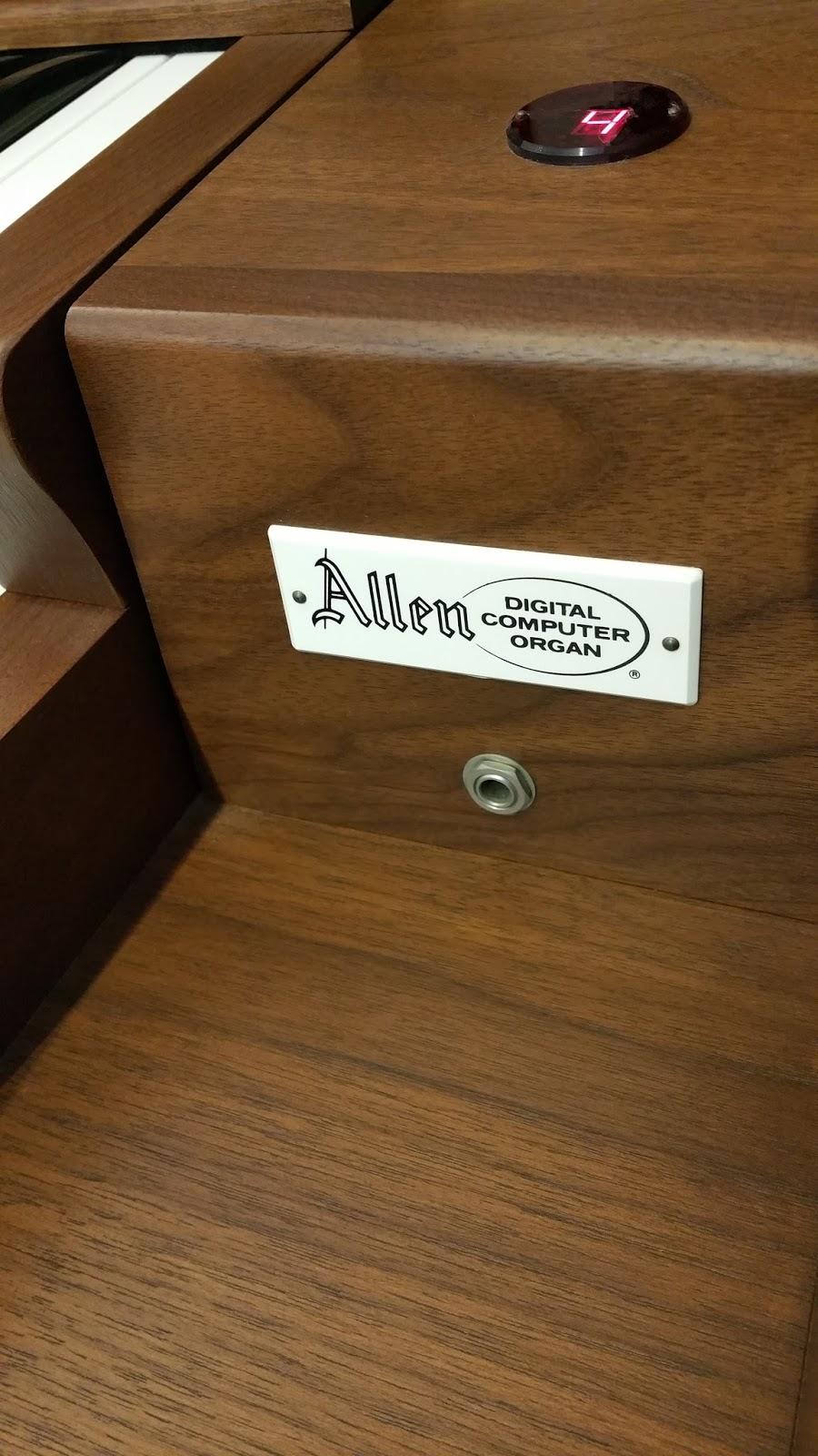 Allen organ - HEADPHONE JACK - PRESET INDICATOR