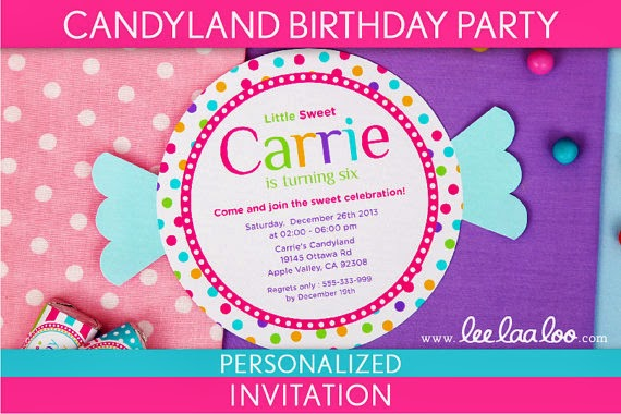 Giggle Bean candyland party – Candyland Birthday Party Invitations