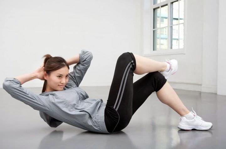 تمرين لتخسيس وشد عضلات البطن والاجناب