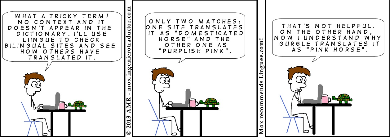 cartoon google gurgle translate statistics linguee