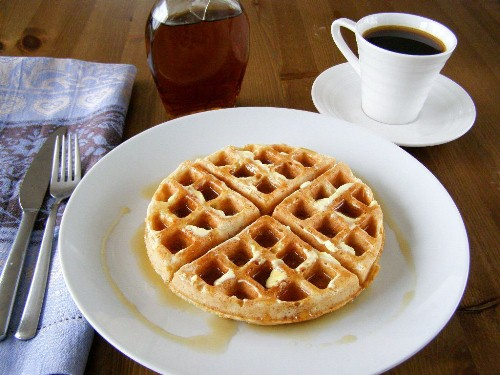 Vegan Waffles with Maple Syrup