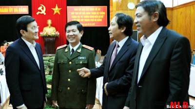 CTN Trương Tấn Sang thăm và làm việc với lãnh đạo Đà Nẵng