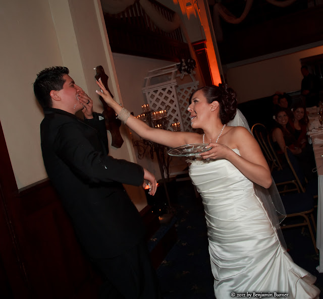 Bride and Groom Cake Fight, The Abby
