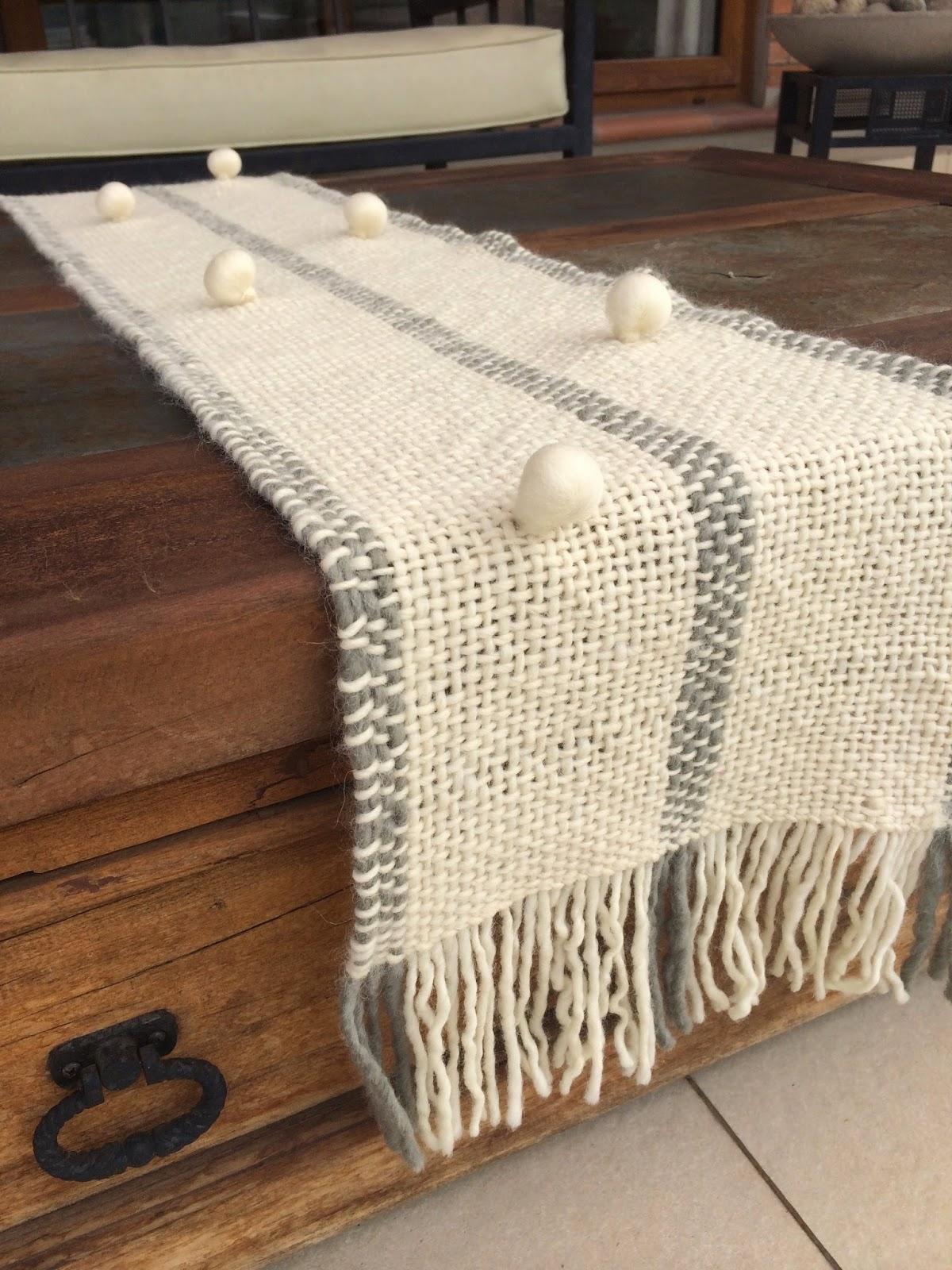 caminos de mesa realizados en telar con lana pura de oveja lisos o con detalles decoracin artesanal para tus ambientes - Caminos De Mesa