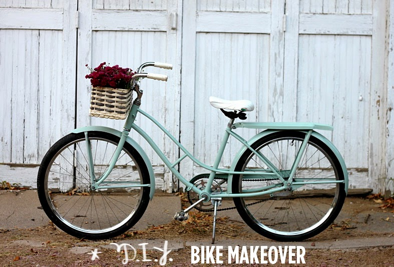 http://www.abeautifulmess.com/2012/09/how-to-paint-your-own-bike.html