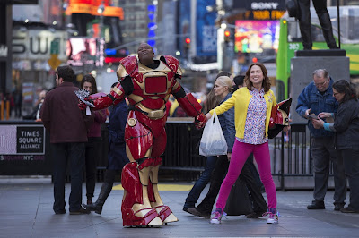Kimmy Schmidt and Metal Hero Friend