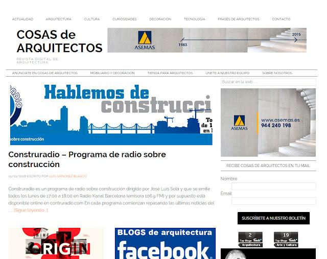 Entrevista al autor del Blog de arquitectura cosas de arquitectos