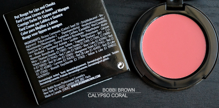 Bobbi Brown Calypso Coral Pot Rouge Lips Cheeks Indian Darker Skin Swatches Makeup Beauty Blog Review Photos FOTD Ingredients
