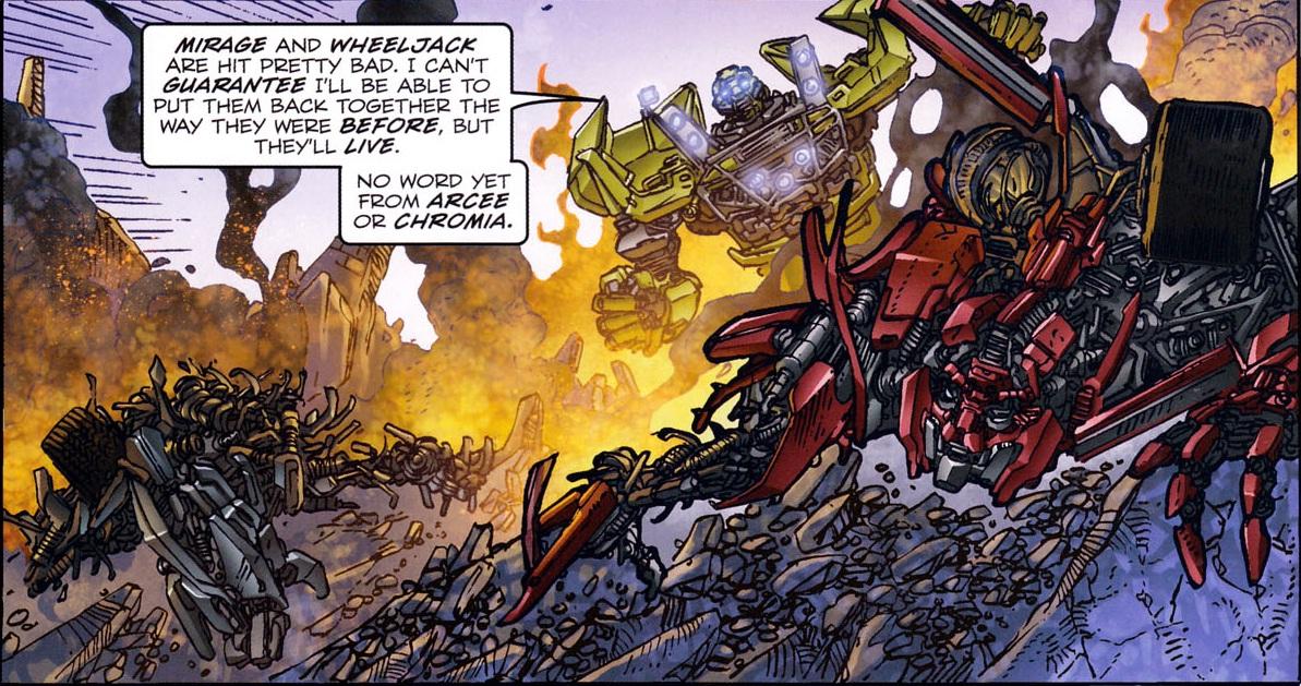 Transformers 3 wheeljack death