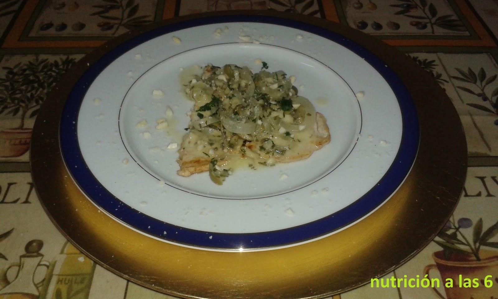 Pez espada con aceitunas almendras y perejil nutrici n for Pez espada en salsa de almendras