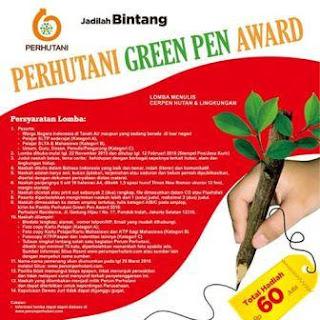 Lomba Menulis Cerpen Perhutani Green Pen Award 2016