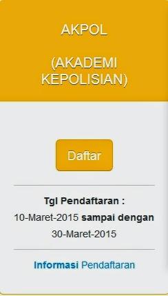 Info Pendaftaran Calon Taruna/Taruni AKPOL 2015