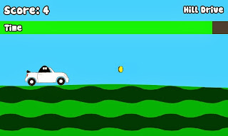 Car Pou. Hill drive game.