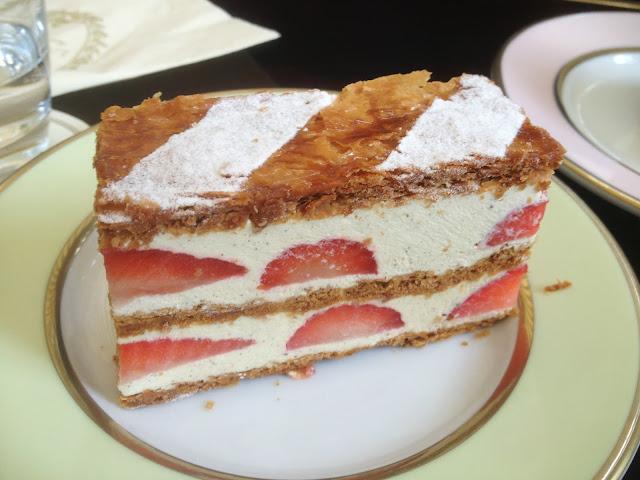 Millefeuille fraise at Ladurée, Paris