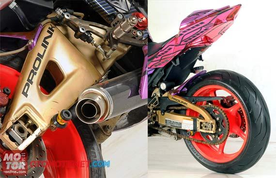Modifikasi Kawasaki Ninja 250R, Karakter Pacuan Foxylady Modern