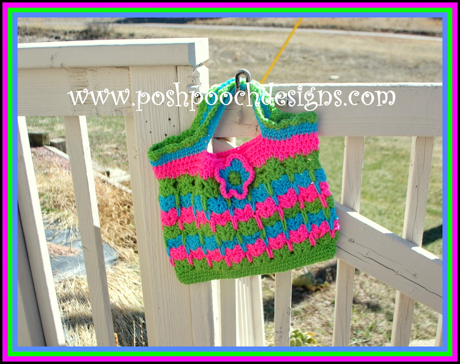 Crochet Patterns Kittens In A Row : ... : Kitties In A Row Tote Bag Free Crochet Pattern Posh Pooch Designs