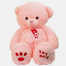 hug me bear pink :*