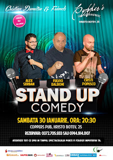 Stand-Up Comedy Sambata 30 ianuarie Bucuresti