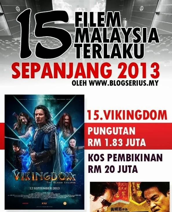 Inilah antara filem buatan Malaysia yang laku pada tahun 2013. Sayang ...