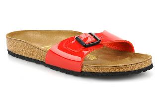 red birkenstocks