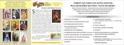 PANFLETO  DA COBERTURA DOS EVENTOS JUNINOS DA REGIAO DO ALTO SERTAO PARAIBANO