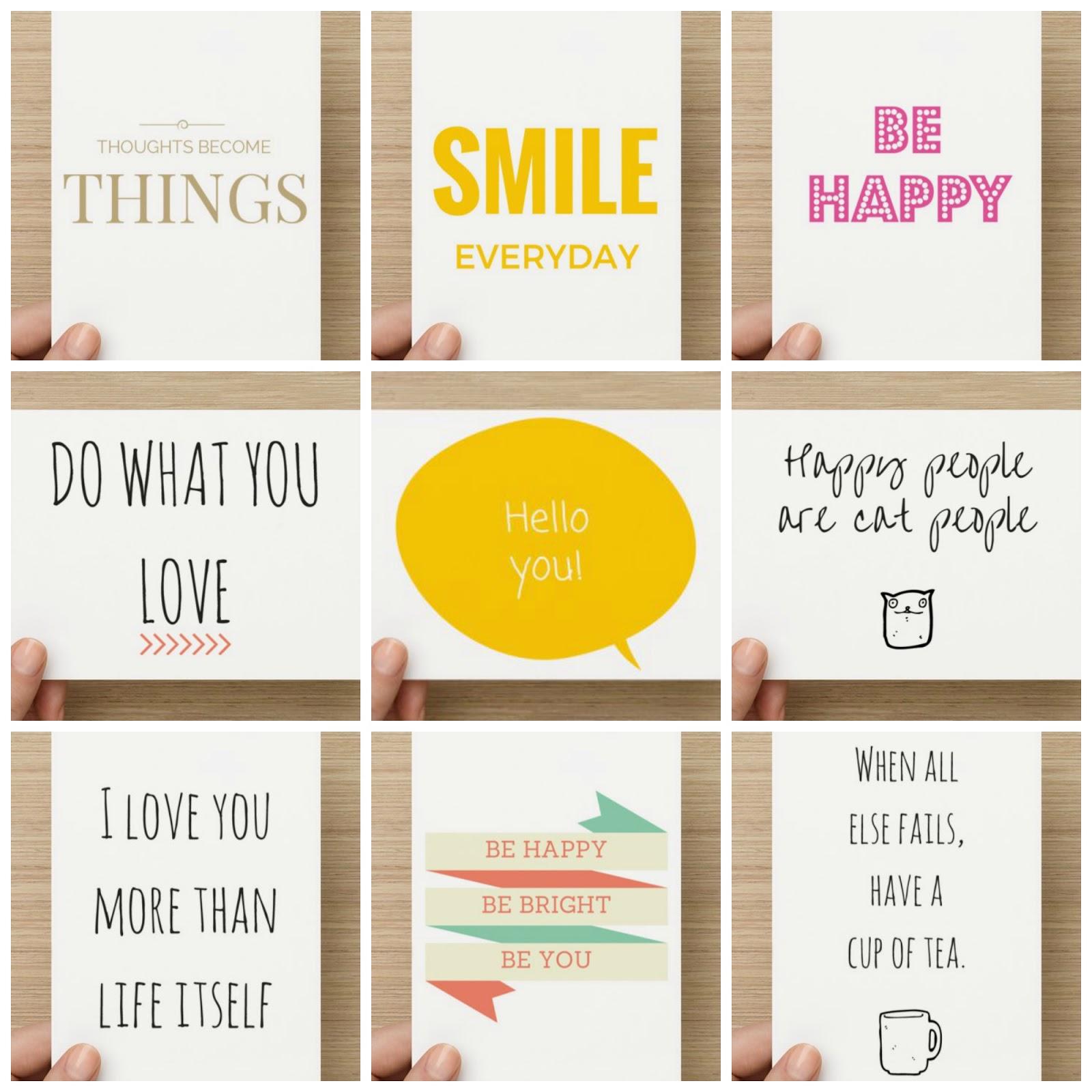 Postcard motivational quote  prints