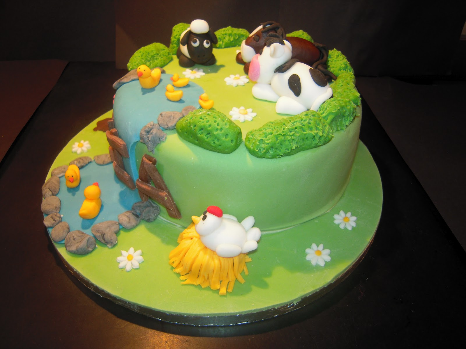 Eileen atkinson 39 s celebration cakes farm animal cake for Animal cake decoration