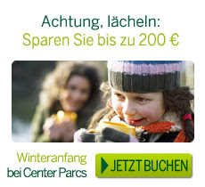 Center Parcs Herbst Winter Angebot