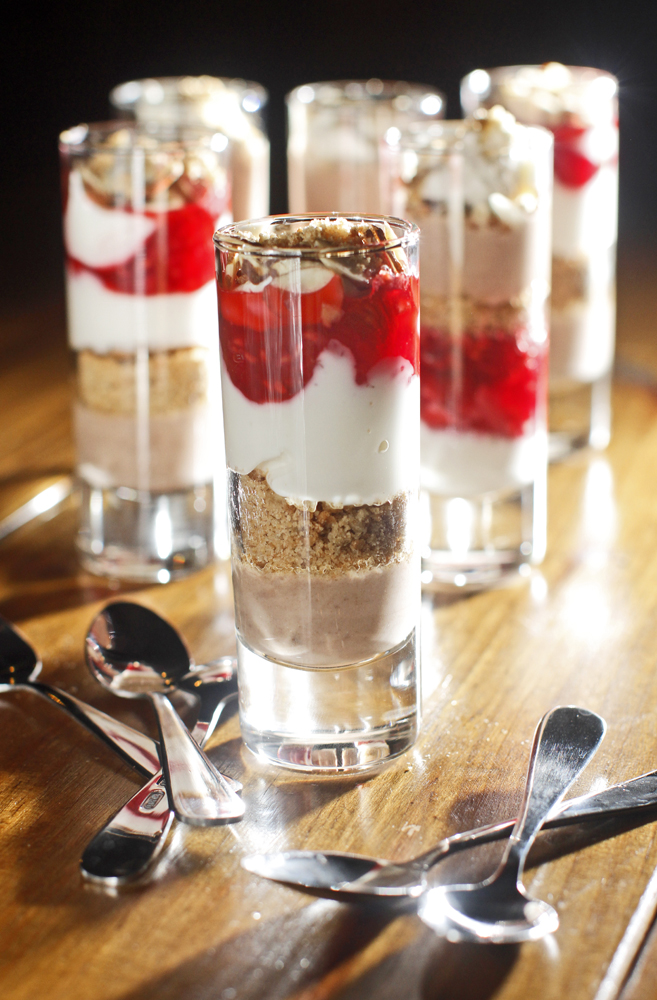 Dessert Shot Glasses And Spoons