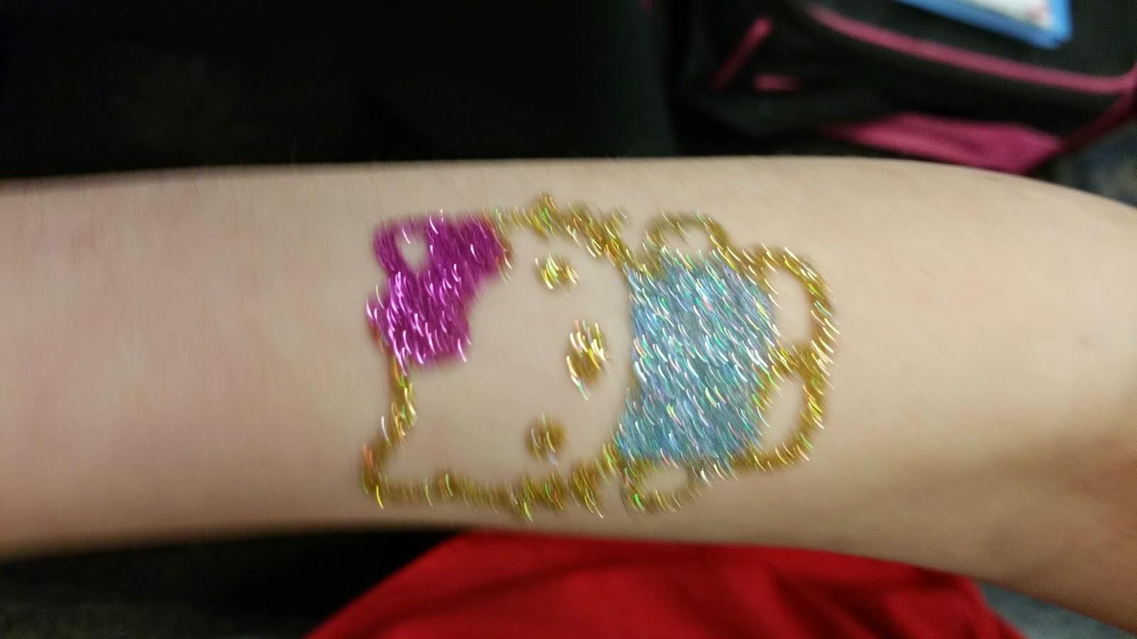 Full Body Hello Kitty Glitter Tattoo