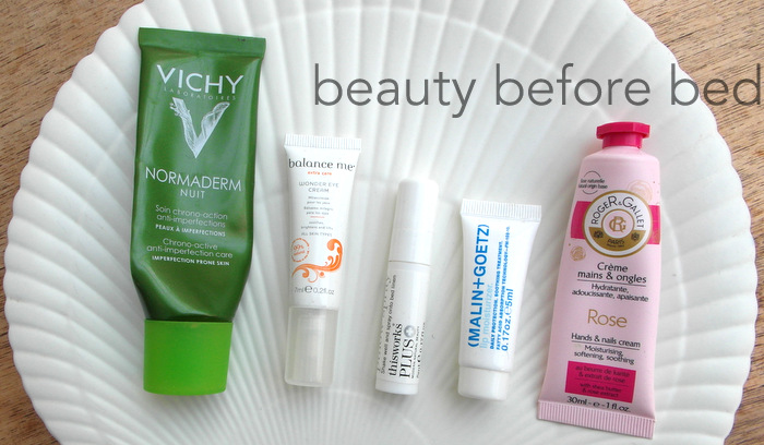 night time skincare routine before bed