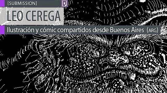 Ilustración. Duende negro de HUGO LEONARDO CEREGA