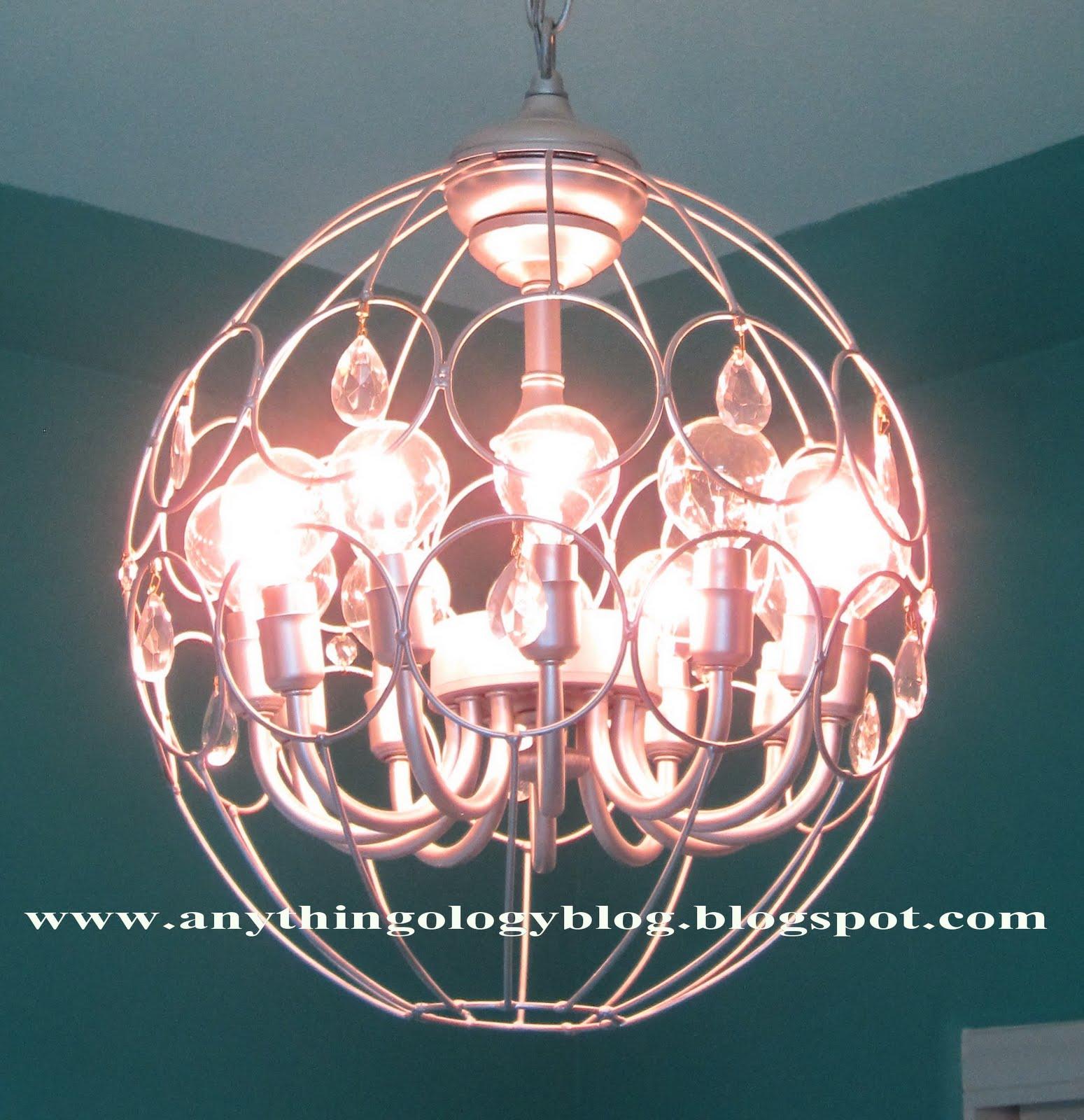 Hanging Light With Planter: Anythingology: Metal Hanging Planter Light #2
