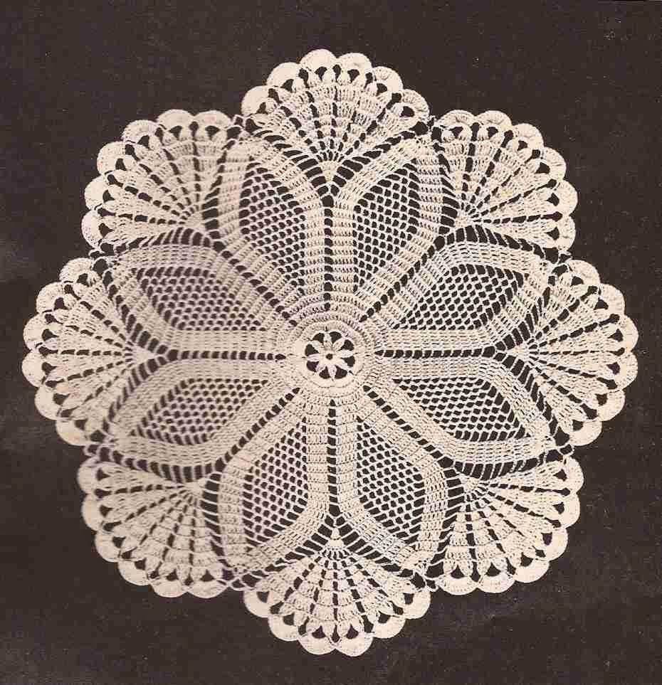 """Centro de Mesa """"Estrella"""" a Crochet o Ganchillo"""