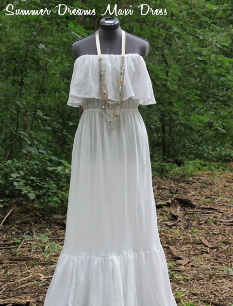 Sharon Sews: Sew a romantic strapless ruffled maxi dress: a tutorial