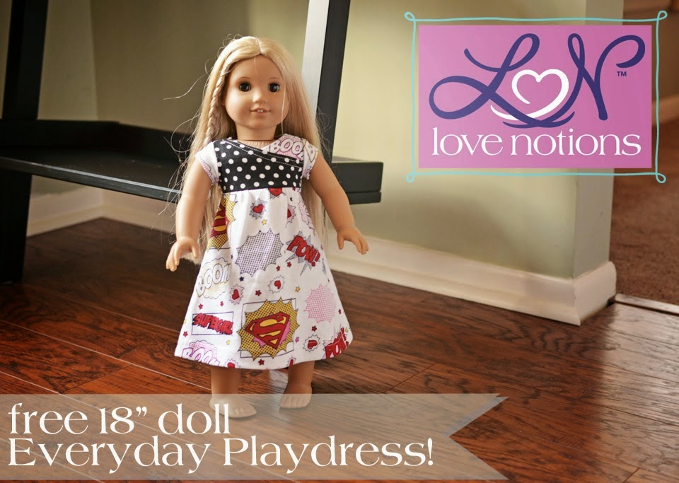 "18"" Doll Everyday Dress by Love Notions"