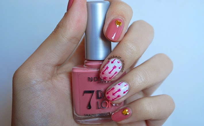 Nail art: Flechas de Cupido / Cupid's arrow | Wicked Fullmoon