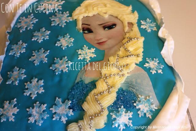 torta compleanno in pdz di Elsa
