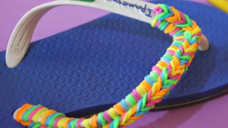 Como personalizar una chanclas con gomas