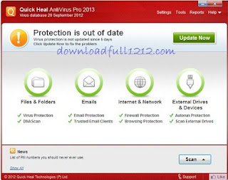 Quick Heal Antivirus Pro 2013 Free License Key