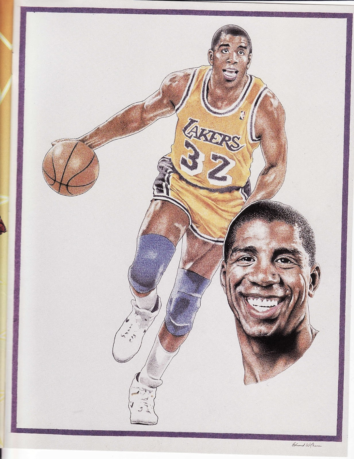 Magic Johnson from Beckett Basketball Monthly