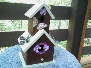 Special order birdhouse cancer awareness