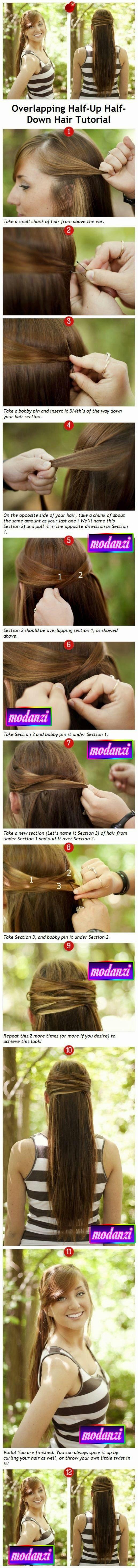 Örgü Bağlı Düz Saç Modeli Nasıl Yapılır ? (Resimli Anlatım)