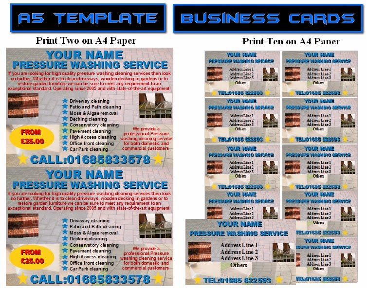 Jetpressure washing leafletsflyerbusiness cards business start up jetpressure washing leafletsflyerbusiness cards business start up pack fbccfo Image collections