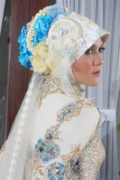 Foto Kreasi Jilbab Pengantin modern