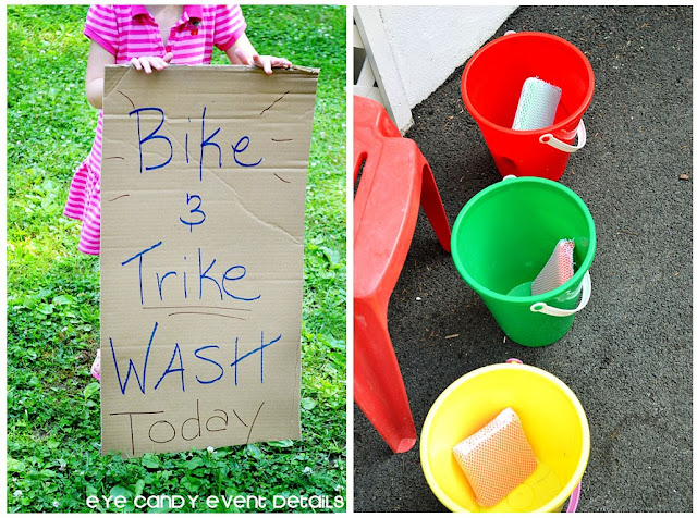 bike wash for the kids, summertime kids ideas, activities for kids in summer