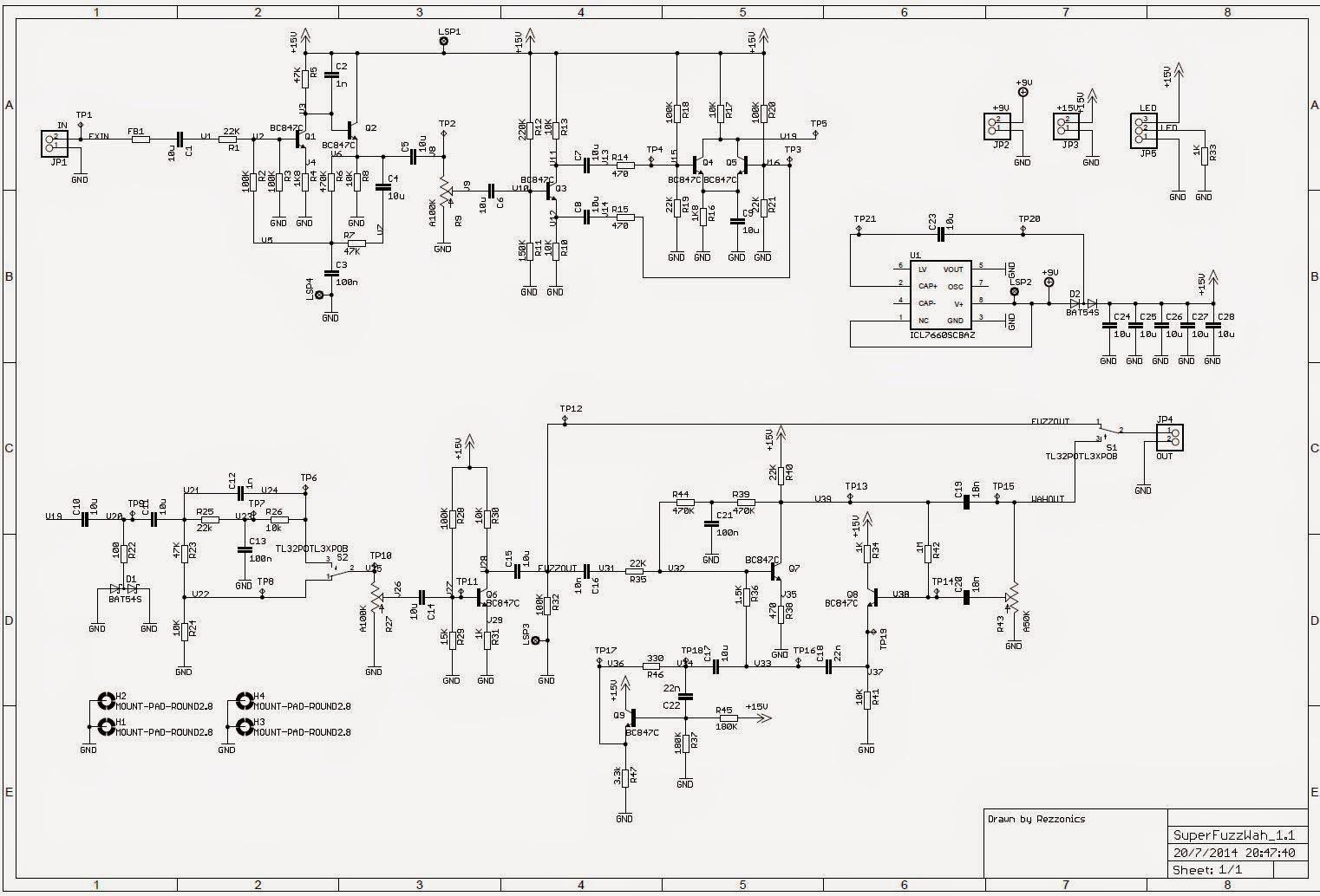 univox super fuzz layout