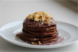 Vegan Oatmeal Coffee Pancakes