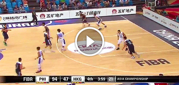 Fiba Asia 2015: Gilas Pilipinas def. Hong Kong, 101-50 (COMPLETE REPLAY VIDEO)