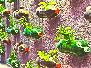 Creative home decoration ideas with waste material for Garden decoration with waste material